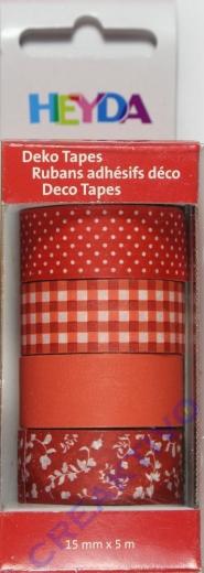 Heyda Deko Tapes Muster rot