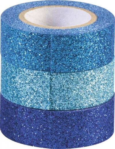 Glitter Tapes 3er Blautöne
