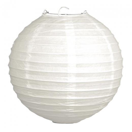 2 Papierlampions 20cm weiß