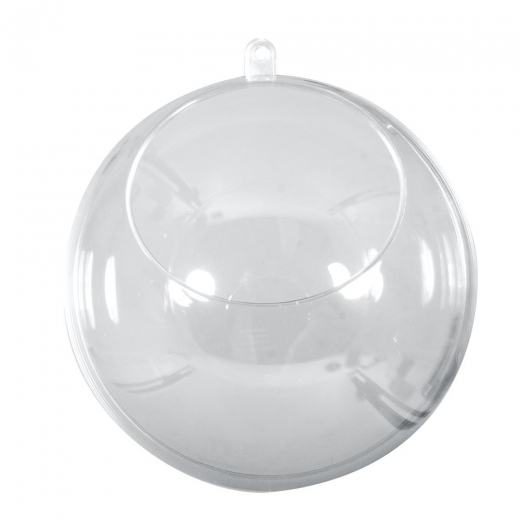 Plastik-Kugel 8cm 2-teilig mit Ausschnitt
