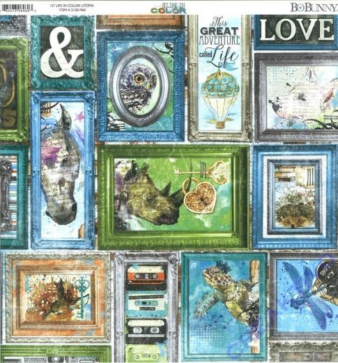 Bo Bunny Scrapbooking-Papier Life in color - Utopia