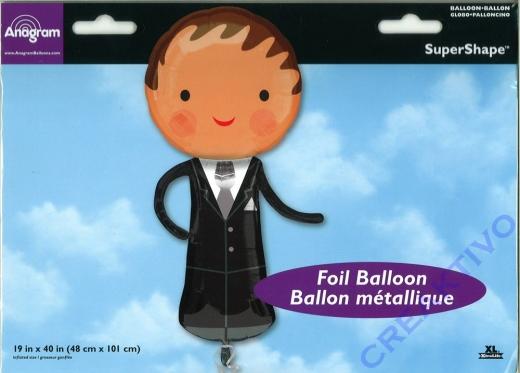 Folienballon - Ø 101cm - Hochzeit Bräutigam
