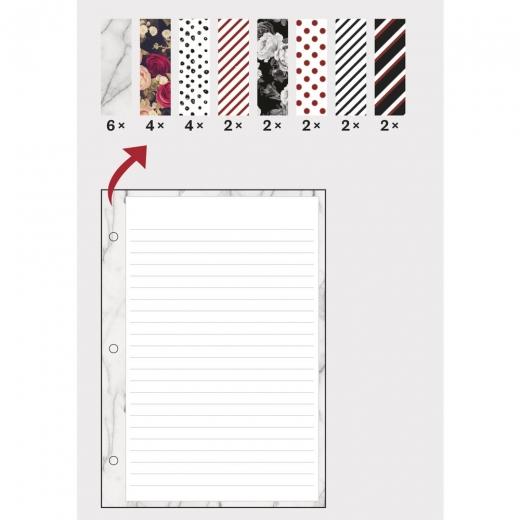 Notizzettel A5 gemustert