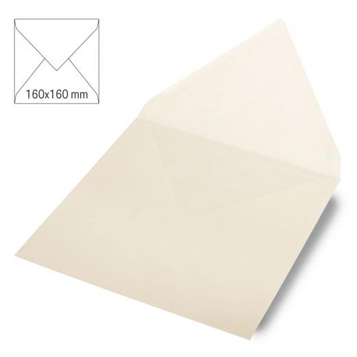 Kuvert quadratisch 16cm x 16cm elfenbein