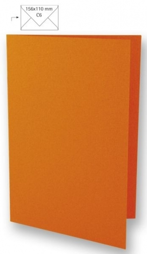 25 Karten A6 210x148mm 220g orange (Restbestand)