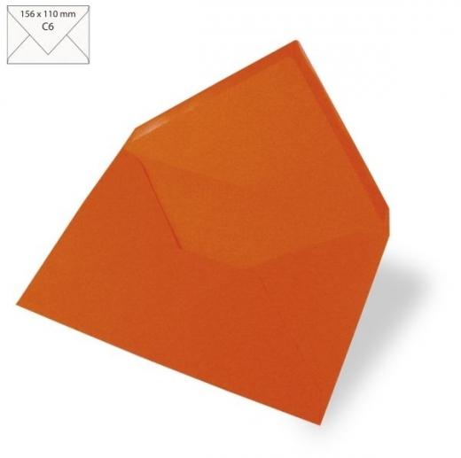 25 Kuverts C6 156x110mm 90g orange (Restbestand)