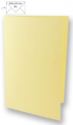 25 Karten B6 232x168mm 220g beige (Restbestand)