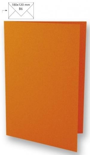 25 Karten B6 232x168mm 220g orange (Restbestand)