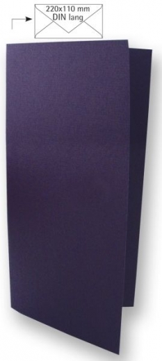 25 Karten DIN lang 210x210mm 220g pflaume (Restbestand)