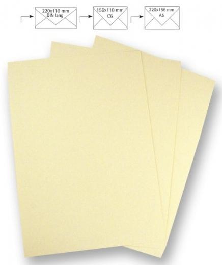 50 Briefbogen A4 210x297mm 90g beige (Restbestand)