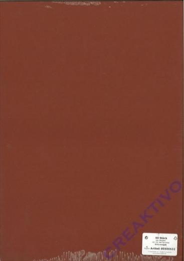 50 Karten A4 210x297mm 220g nougat (Restbestand)