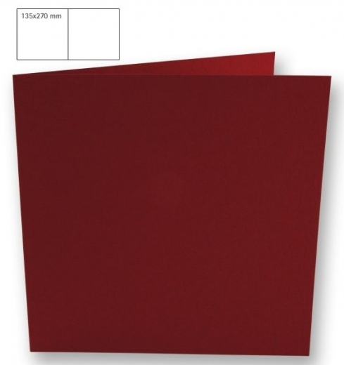 25 Karten quadratisch 135x270mm 220g bordeaux (Restbestand)