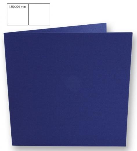 25 Karten quadratisch 135x270mm 220g royalblau (Restbestand)