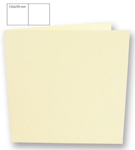 25 Karten quadratisch 135x270mm 220g elfenbein (Restbestand)