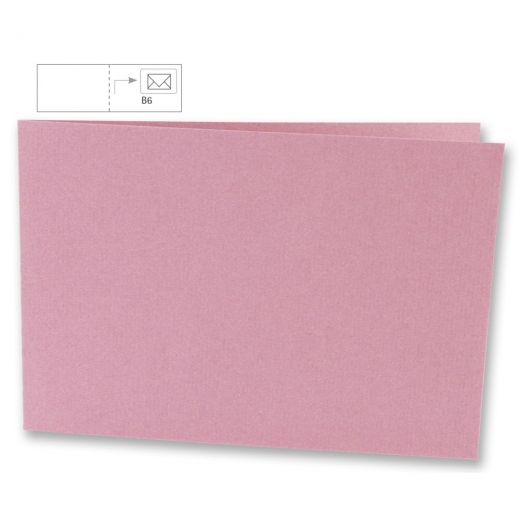 Karte B6 quer 232x168mm 220g rosé