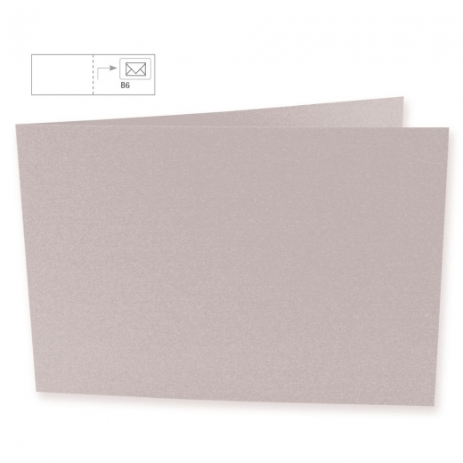 Karte B6 quer 232x168mm 220g taupe