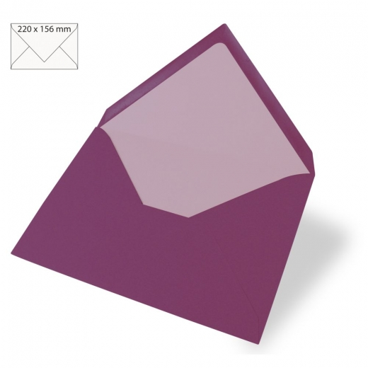 Kuvert C6 156x110mm 90g purple velvet