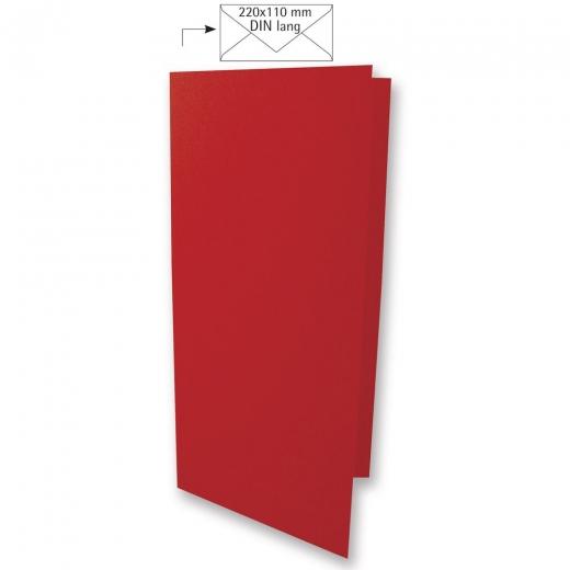 Karte DIN lang 210x210mm 220g kardinalrot