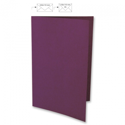 Karte A4 210x297mm 220g purple velvet