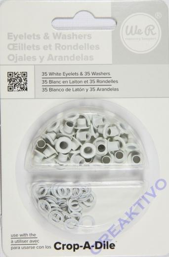 Eyelets & Washers weiß 35 Stück