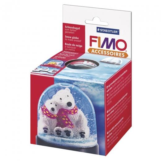 Fimo Schneekugel rund