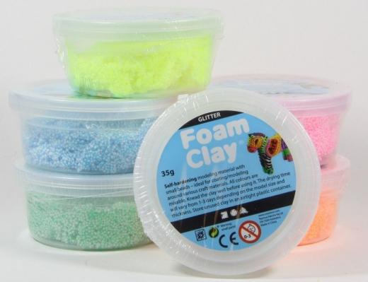 Foam Clay Glitter 6 x 35g