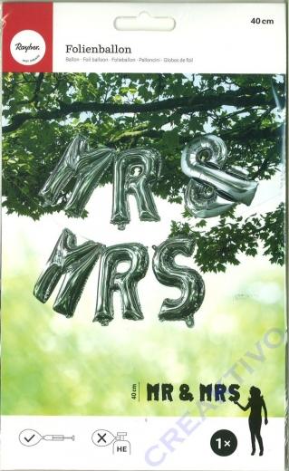 Folienballons Mr & Mrs 40cm (nicht heliumgeeignet)