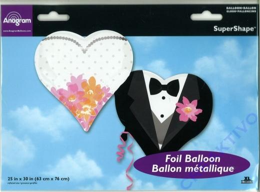 Folienballon Hochzeitspaar