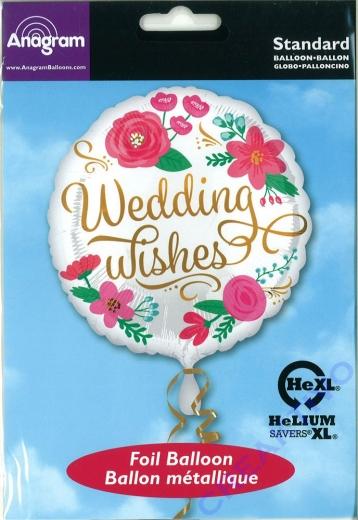 Folienballon Wedding Wishes