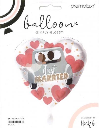 Folienballon Just married Auto