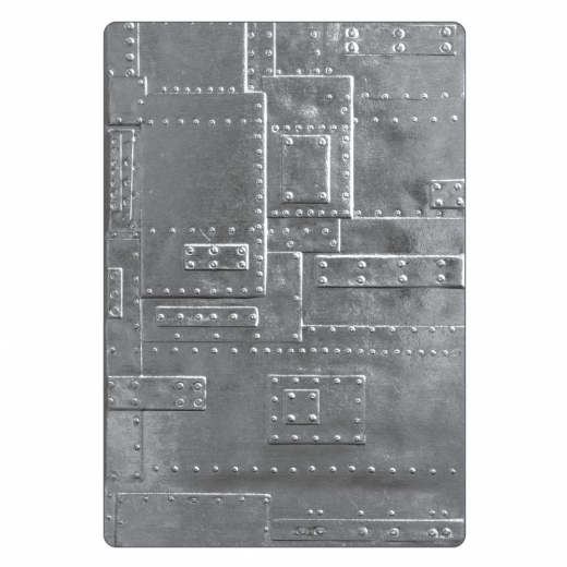 Sizzix 3-D Texture Fades Embossing Folder - Foundry