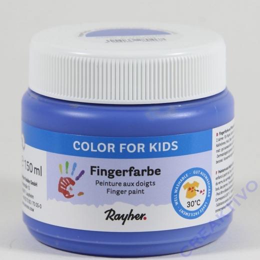Fingerfarbe echtblau