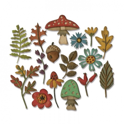 Sizzix Thinlits Die Set 20PK - Funky Foliage