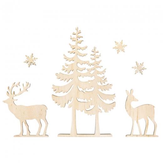 Rayher Holzmotive Baum und Hirsch