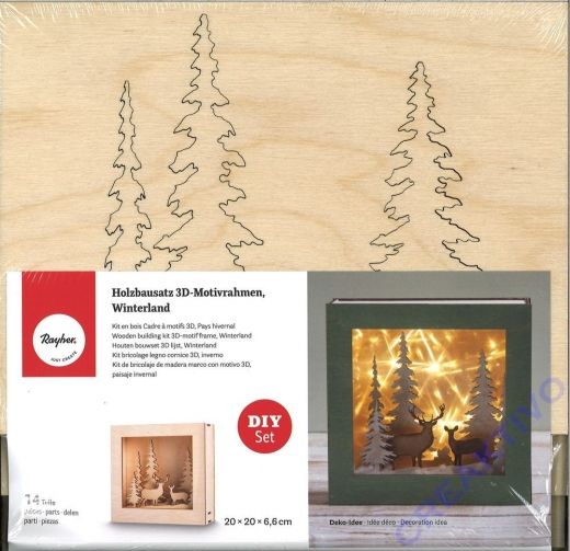 Holzbausatz 3D-Motivrahmen Winterland