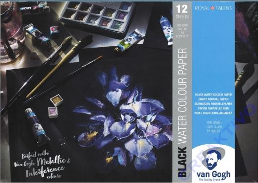Van Gogh Black Water Colour Paper A4
