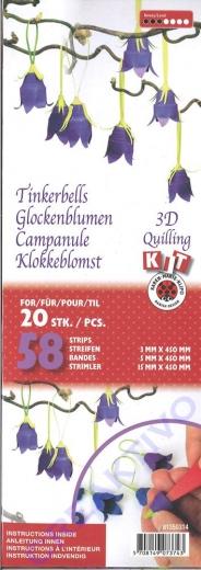 3D Quilling Kit Glockenblumen (Restbestand)