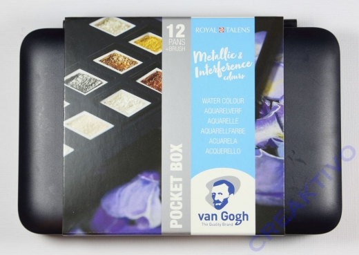 Van Gogh Pocket Box Water Colour Metallic & Interference Colours