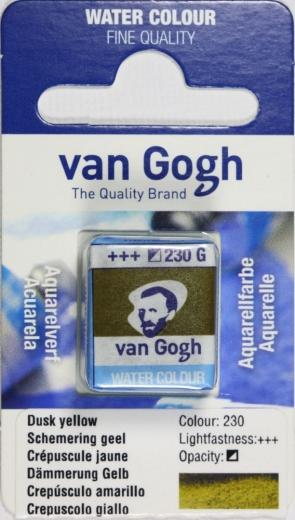 Van Gogh Aquarell Näpfchen Dämmerung gelb (Dusk)