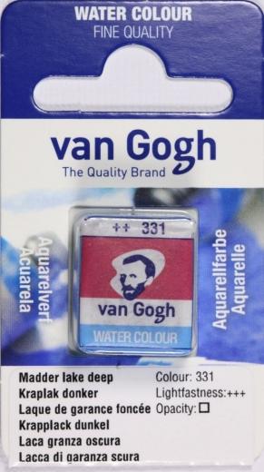 Van Gogh Aquarell Näpfchen krapplack dunkel