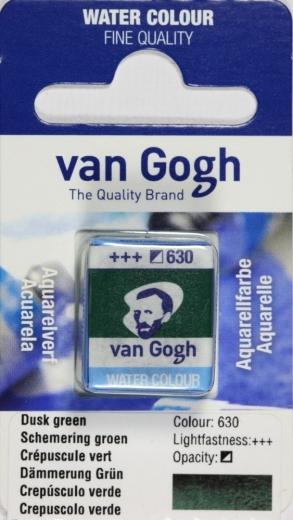 Van Gogh Aquarell Näpfchen Dämmerung grün