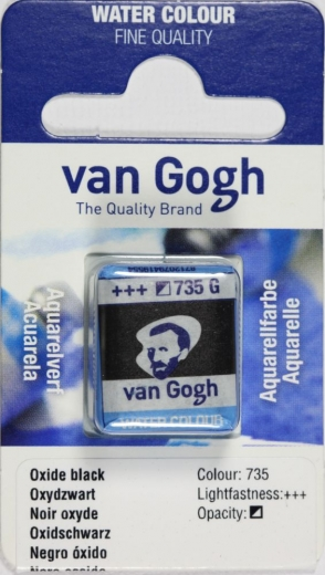 Van Gogh Aquarell Näpfchen oxidschwarz