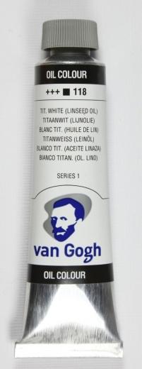 Van Gogh Ölfarbe 40ml titanweiss (Leinöl)