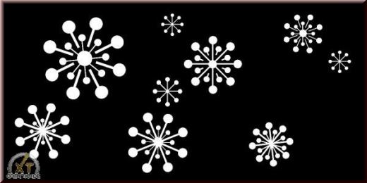 Schablone 15 x 30 cm Schneesterne