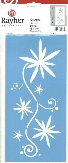 Schablone 15 x 30 cm Blumenranke