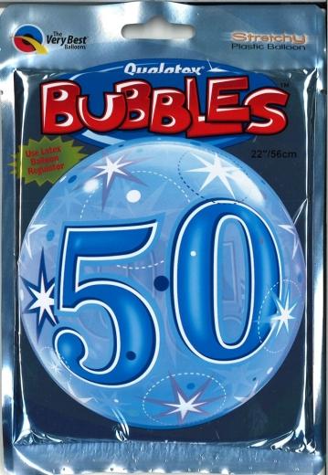 Bubbleballon 50 blau