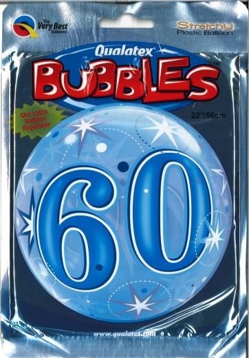Bubbleballon 60 blau