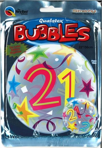 Bubbleballon 21 bunt