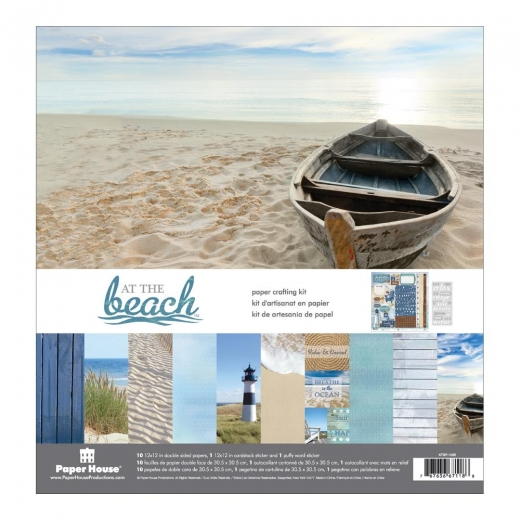Paper House Paper Crafting Kit 12X12 - At the beach