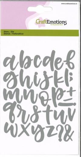 Stanzen Alphabet Handlettering Kleinbuchstaben und Sonderzeichen